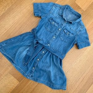 Gap girls Denim shirt dress size XS